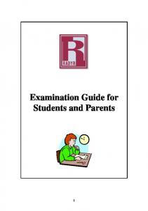 Examination Guide for Students and Parents