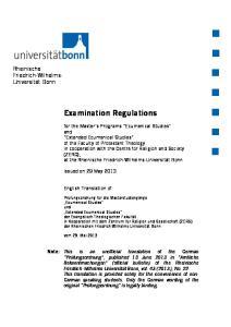 Examination Regulations