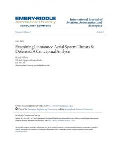 Examining Unmanned Aerial System Threats & Defenses: A Conceptual Analysis
