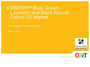 EXBERRY Blue, Green, Lavender and Black Natural Colors-US Market