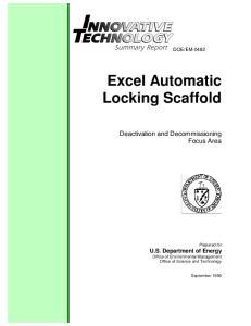 Excel Automatic Locking Scaffold