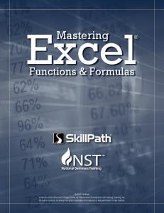 Excel. Mastering. Functions & Formulas