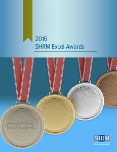 EXCEL SHRM Excel Awards