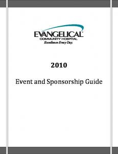 Excellence Every Day. Event and Sponsorship Guide
