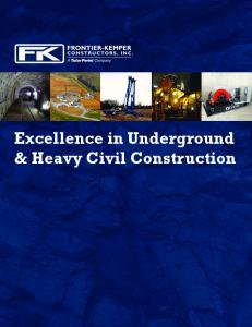 Excellence in Underground & Heavy Civil Construction