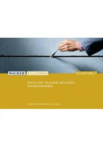 EXCELLENT SILICONE SEALANTS: GRUNDIERUNGEN