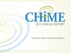 Exceptional Leaders Transforming Healthcare