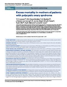 Excess mortality in mothers of patients with polycystic ovary syndrome