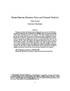 Excess Reserves, Monetary Policy and Financial Volatility