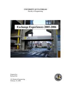 Exchange Experiences