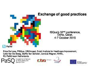 Exchange of good practices