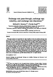 Exchange rate pass-through, exchange rate volatility, and exchange rate disconnect $
