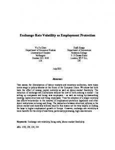 Exchange-Rate Volatility as Employment Protection