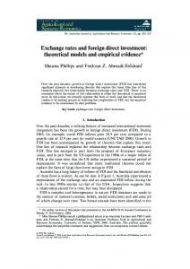 Exchange rates and foreign direct investment: theoretical models and empirical evidence*