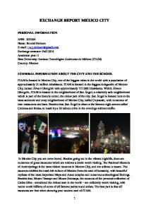 EXCHANGE REPORT MEXICO CITY