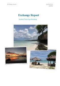 Exchange report Spring 2014 k Exchange Report. Institut Teknologi Bandung