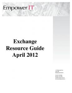 Exchange Resource Guide April 2012