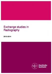 Exchange studies in Radiography