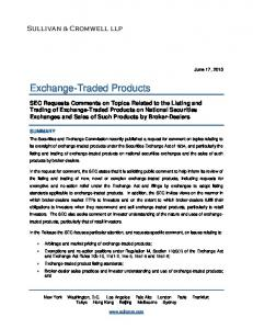 Exchange-Traded Products