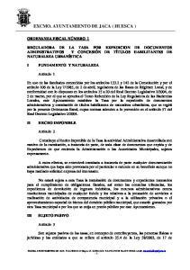 EXCMO. AYUNTAMIENTO DE JACA ( HUESCA )