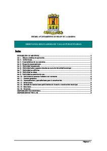 EXCMO. AYUNTAMIENTO DE POLOP DE LA MARINA ORDENANZA REGULADORA DE VALLAS PUBLICITARIAS