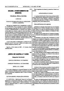 EXCMO. AYUNTAMIENTO DE SEGOVIA