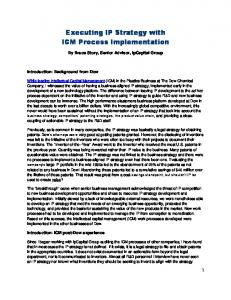 Executing IP Strategy with ICM Process Implementation