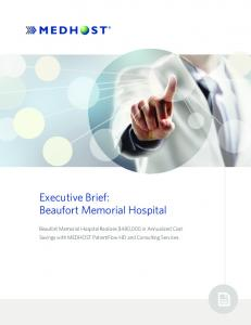 Executive Brief: Beaufort Memorial Hospital