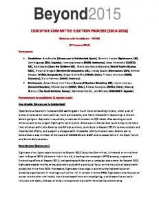 EXECUTIVE COMMITTEE ELECTION PROCESS ( )