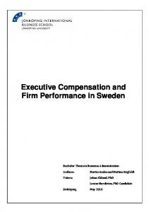 Executive Compensation and Firm Performance in Sweden