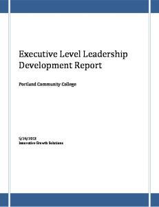 Executive Level Leadership Development Report