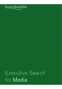 Executive Search for Media