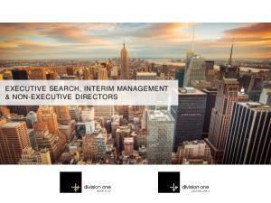 EXECUTIVE SEARCH, INTERIM MANAGEMENT & NON-EXECUTIVE DIRECTORS