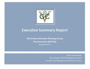 Executive Summary Report