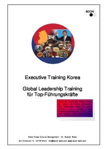 Executive Training Korea