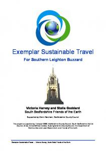 Exemplar Sustainable Travel