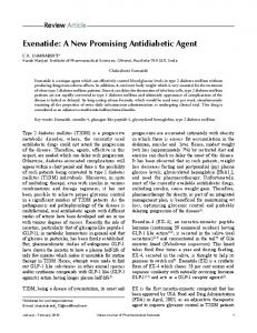Exenatide: A New Promising Antidiabetic Agent