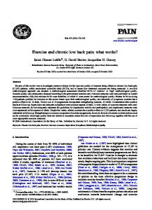 Exercise and chronic low back pain: what works?