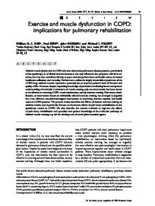 Exercise and muscle dysfunction in COPD: implications for pulmonary rehabilitation