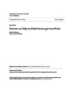 Exercise can help modulate human gut microbiota