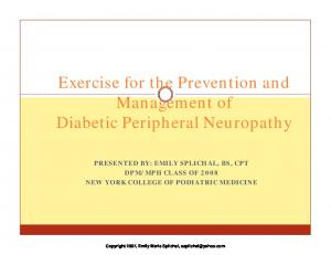 Exercise for the Prevention and Management of Diabetic Peripheral Neuropathy