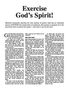 Exercise God s Spirit!
