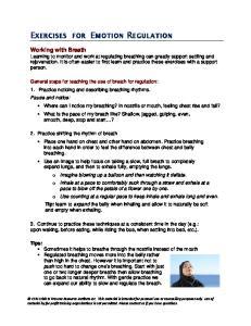 EXERCISES FOR EMOTION REGULATION