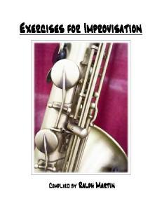 Exercises for Improvisation