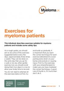 Exercises for myeloma patients