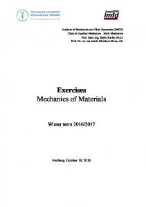 Exercises Mechanics of Materials