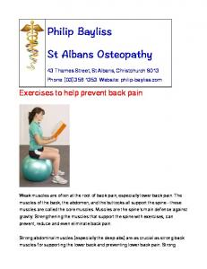 Exercises to help prevent back pain