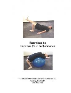 Exercises to Improve Your Performance