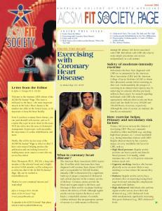 Exercising with Coronary Heart Disease