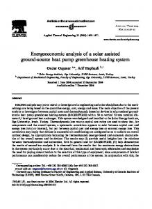 Exergoeconomic analysis of a solar assisted ground-source heat pump greenhouse heating system